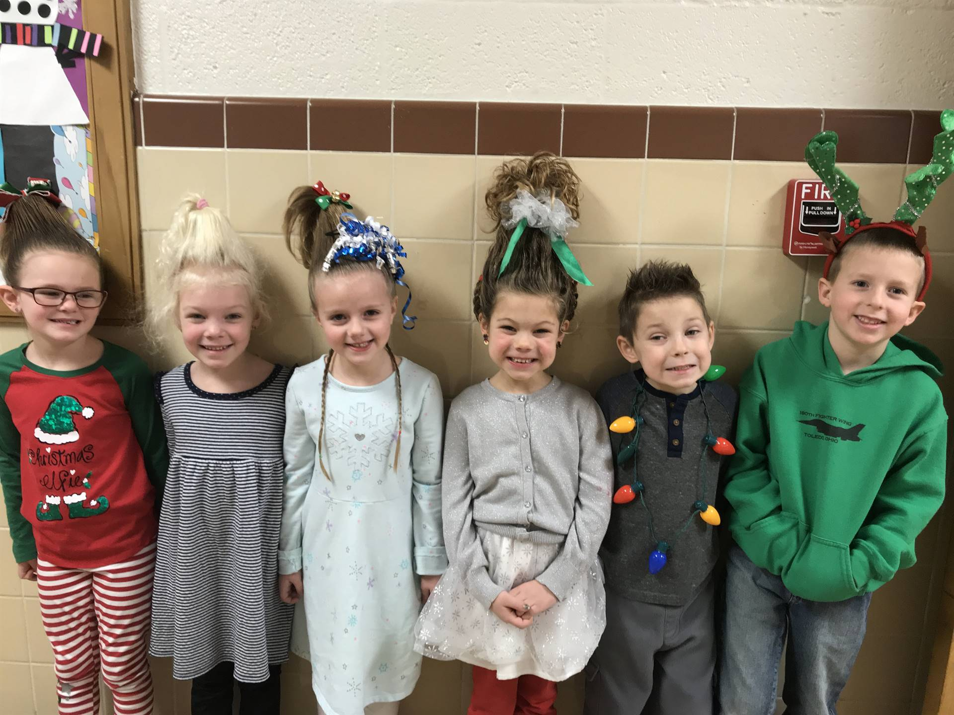 Mrs. Seitz's class dressed for The Grinch