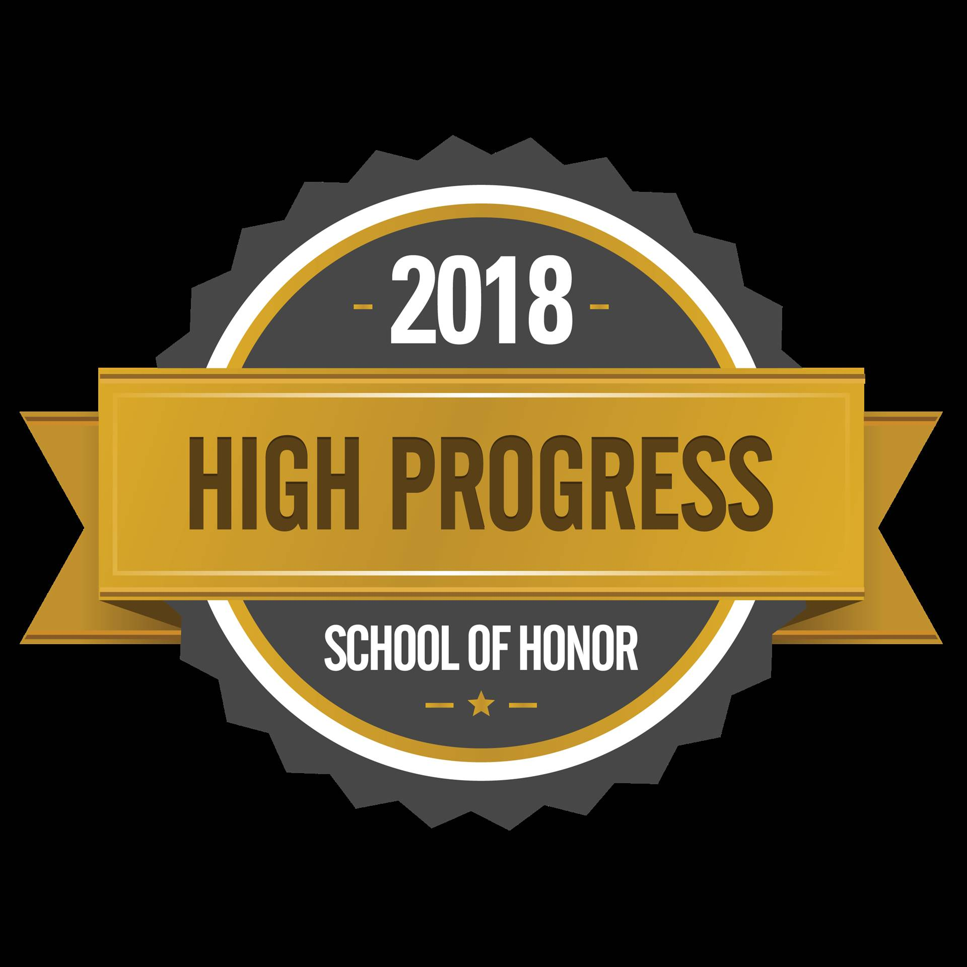 2018 High Progress School of Honor - award by ODE