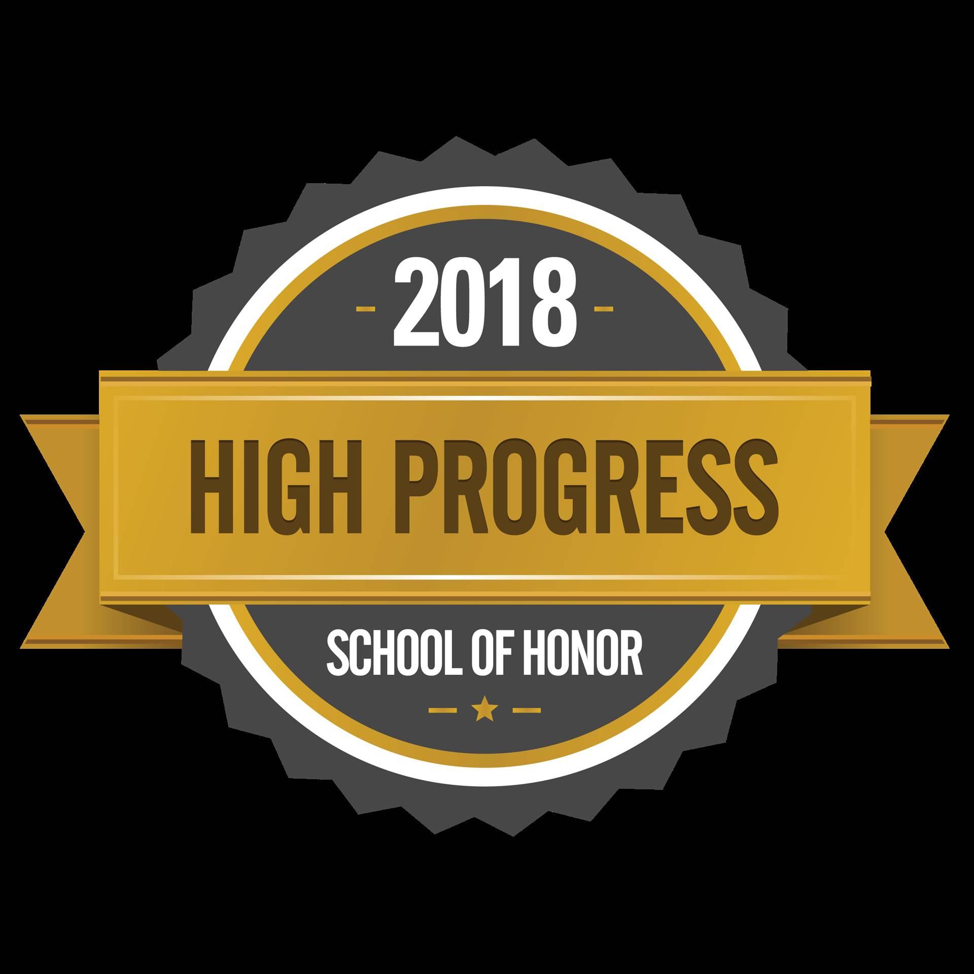 2018 High Progress School of Honor - award by ODE