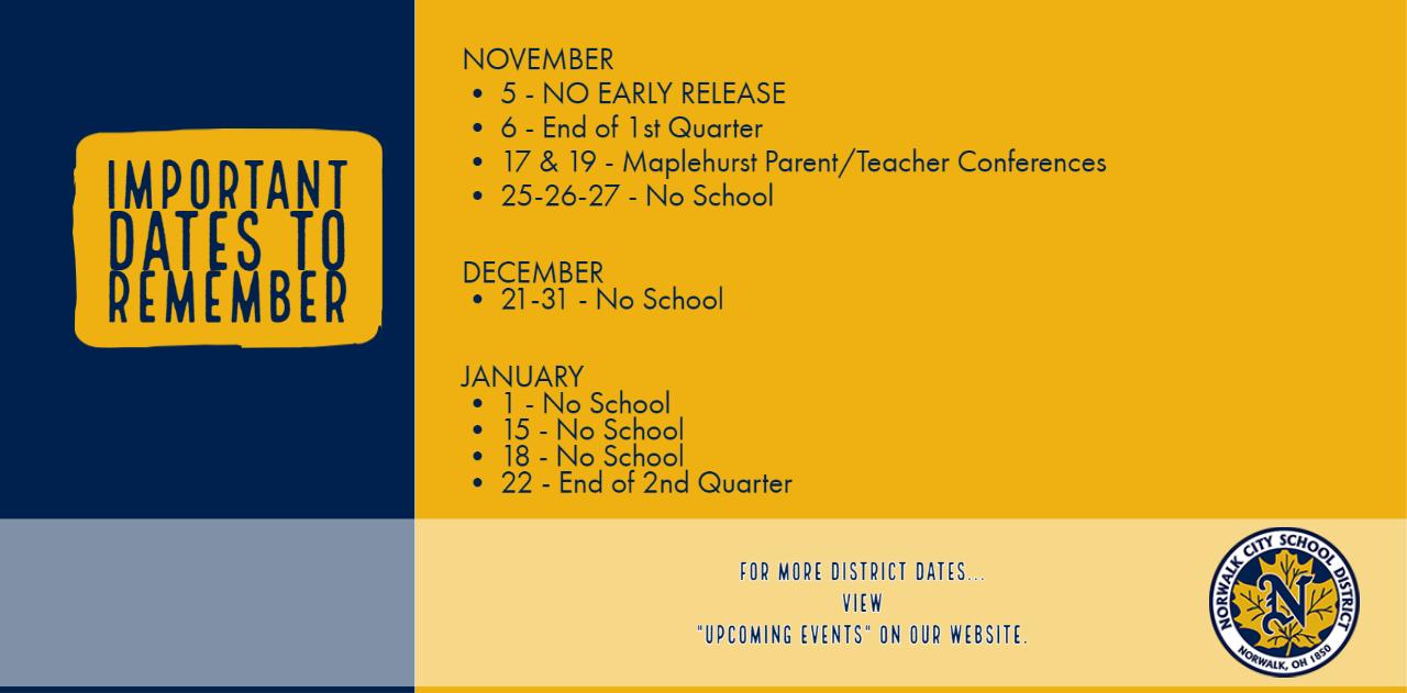 Important Dates Nov Dec Jan