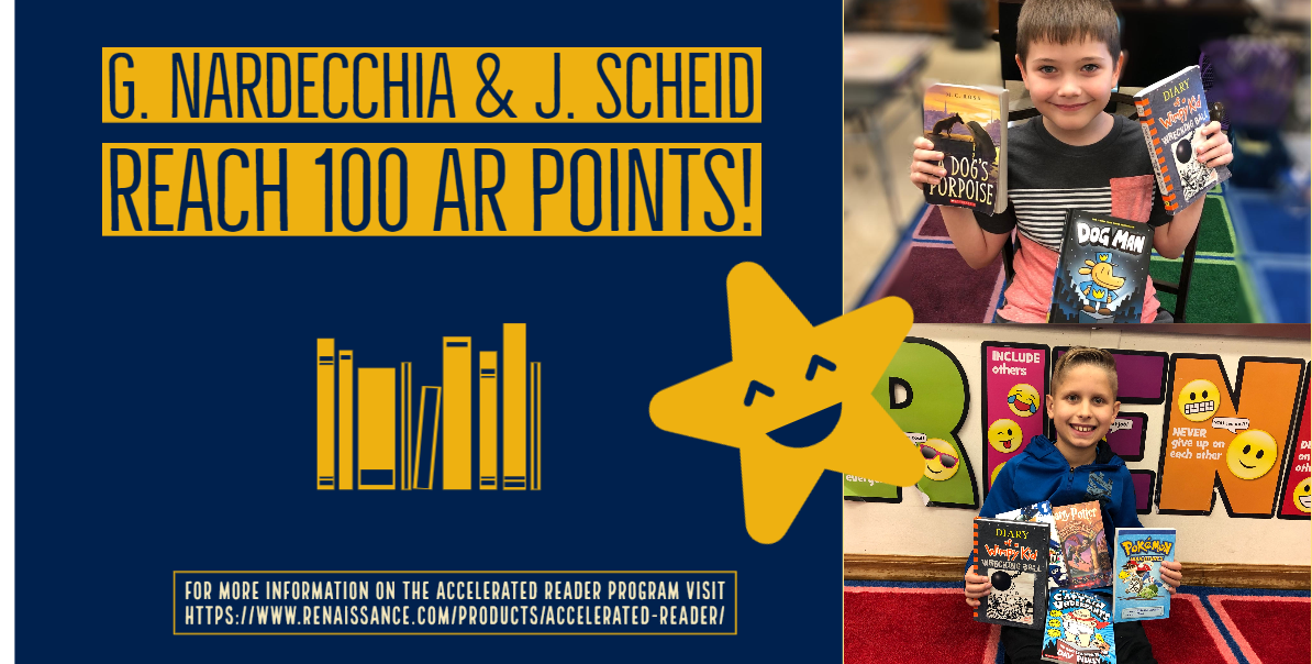 Students reach 100 AR points