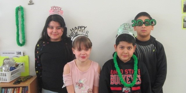 Students celebrate the new year