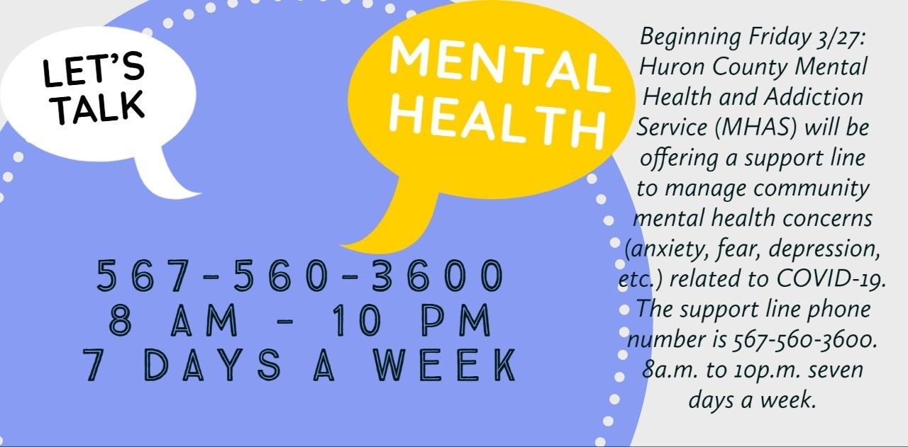 Mental Health Hotline 567-560-3600