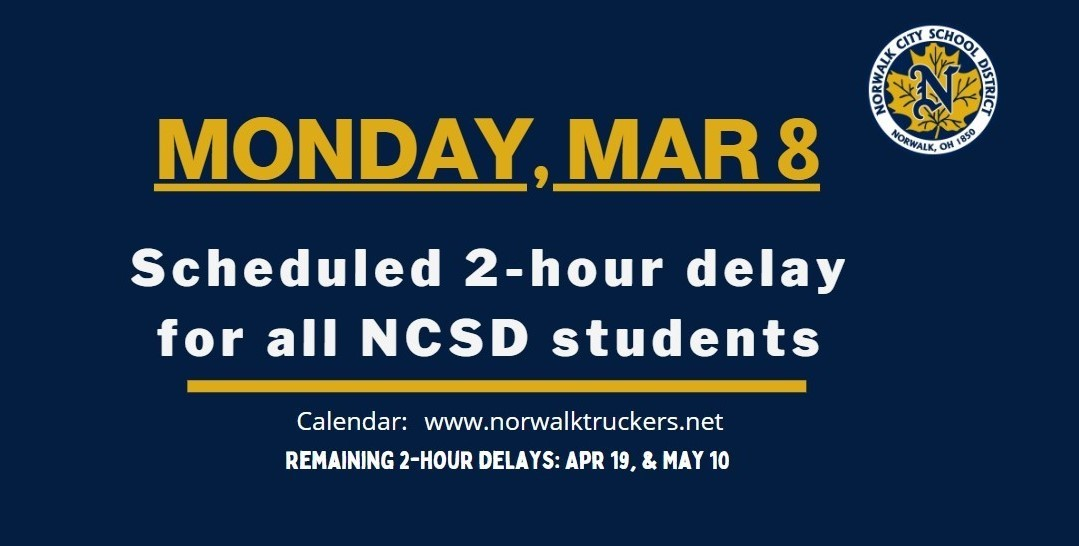 2 hour delay March 8