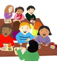 kids at lunch